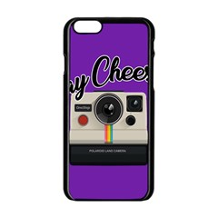 Say Cheese Apple iPhone 6/6S Black Enamel Case