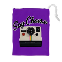 Say Cheese Drawstring Pouches (Extra Large)