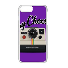 Say Cheese Apple Iphone 7 Plus White Seamless Case by Valentinaart