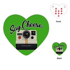 Say Cheese Playing Cards (heart)  by Valentinaart