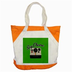 Say Cheese Accent Tote Bag by Valentinaart