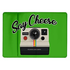 Say Cheese Samsung Galaxy Tab 10 1  P7500 Flip Case by Valentinaart