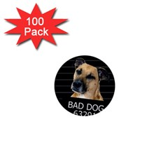 Bed Dog 1  Mini Buttons (100 Pack)  by Valentinaart