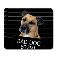 Bed Dog Large Mousepads by Valentinaart