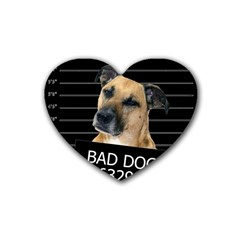 Bed Dog Rubber Coaster (heart)