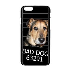 Bed Dog Apple Iphone 6/6s Black Enamel Case by Valentinaart