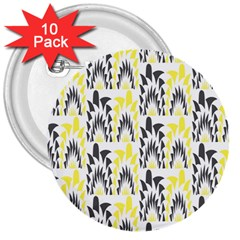 Tricolored Geometric Pattern 3  Buttons (10 Pack)  by linceazul