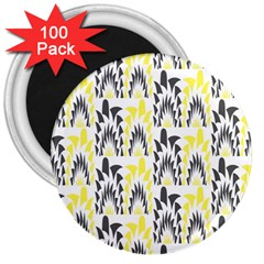Tricolored Geometric Pattern 3  Magnets (100 Pack) by linceazul