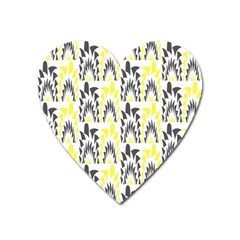 Tricolored Geometric Pattern Heart Magnet by linceazul