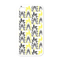Tricolored Geometric Pattern Apple Iphone 4 Case (white) by linceazul