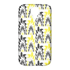 Tricolored Geometric Pattern Samsung Galaxy S4 Classic Hardshell Case (pc+silicone) by linceazul