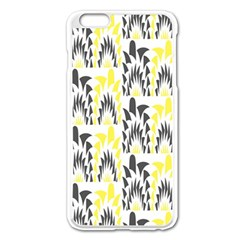 Tricolored Geometric Pattern Apple Iphone 6 Plus/6s Plus Enamel White Case by linceazul