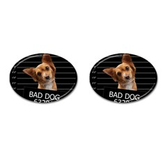 Bad Dog Cufflinks (oval) by Valentinaart