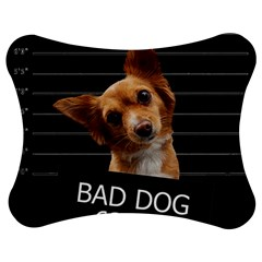 Bad Dog Jigsaw Puzzle Photo Stand (bow) by Valentinaart