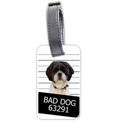 Bad Dog Luggage Tags (one Side)  by Valentinaart