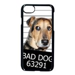 Bad dog Apple iPhone 7 Seamless Case (Black) Front