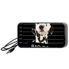 Bad Dog Portable Speaker (black) by Valentinaart