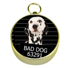 Bad Dog Gold Compasses by Valentinaart