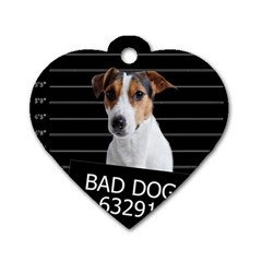 Bad Dog Dog Tag Heart (two Sides)
