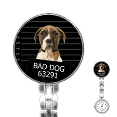 Bad Dog Stainless Steel Nurses Watch by Valentinaart