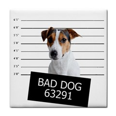 Bad Dog Tile Coasters by Valentinaart