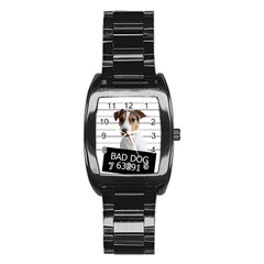 Bad Dog Stainless Steel Barrel Watch