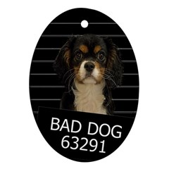 Bad Dog Oval Ornament (two Sides) by Valentinaart