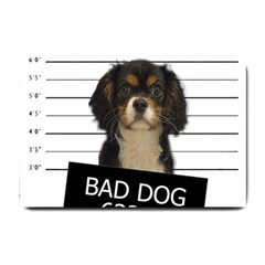 Bad Dog Small Doormat  by Valentinaart