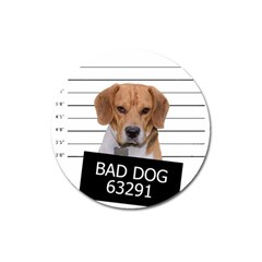 Bad Dog Magnet 3  (round) by Valentinaart