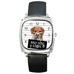Bad Dog Square Metal Watch by Valentinaart