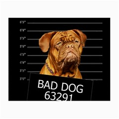 Bad Dog Small Glasses Cloth (2-side) by Valentinaart