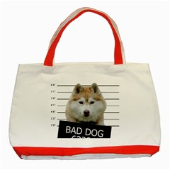 Bad Dog Classic Tote Bag (red) by Valentinaart