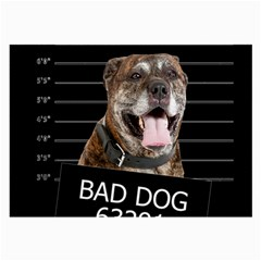 Bad Dog Large Glasses Cloth (2 Side) by Valentinaart
