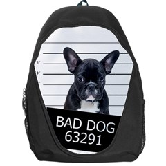 Bad Dog Backpack Bag by Valentinaart