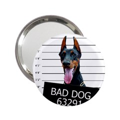 Bad Dog 2 25  Handbag Mirrors by Valentinaart