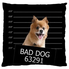Bad Dog Standard Flano Cushion Case (two Sides)
