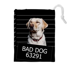 Bad Dog Drawstring Pouches (extra Large) by Valentinaart