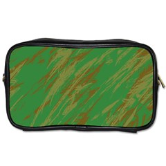 Brown Green Texture             Toiletries Bag (two Sides) by LalyLauraFLM