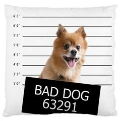 Bad Dog Large Cushion Case (one Side) by Valentinaart