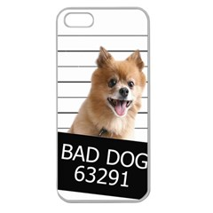 Bad Dog Apple Seamless Iphone 5 Case (clear)