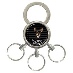 Bad Dog 3 Ring Key Chains by Valentinaart