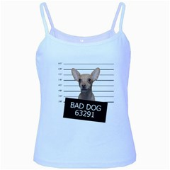 Bad Dog Baby Blue Spaghetti Tank