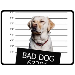 Bad Dog Fleece Blanket (large)  by Valentinaart