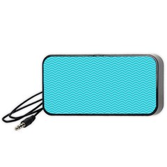 Blue Waves Pattern  Portable Speaker (black) by TastefulDesigns