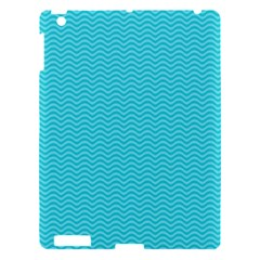 Blue Waves Pattern  Apple Ipad 3/4 Hardshell Case