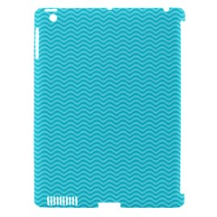 Blue Waves Pattern  Apple Ipad 3/4 Hardshell Case (compatible With Smart Cover)