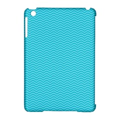 Blue Waves Pattern  Apple Ipad Mini Hardshell Case (compatible With Smart Cover)