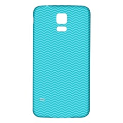 Blue Waves Pattern  Samsung Galaxy S5 Back Case (white)