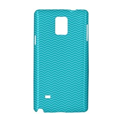 Blue Waves Pattern  Samsung Galaxy Note 4 Hardshell Case