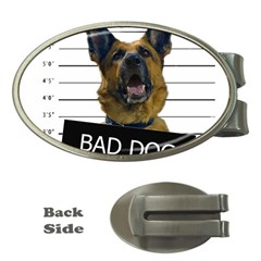 Bad Dog Money Clips (oval)  by Valentinaart